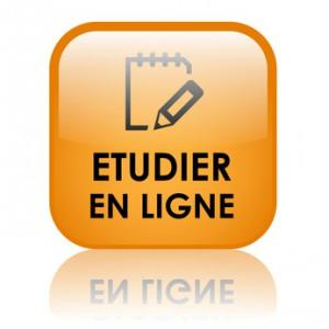"""Bouton Web """"ETUDIER EN LIGNE"""" (cours études par correspondance)"""